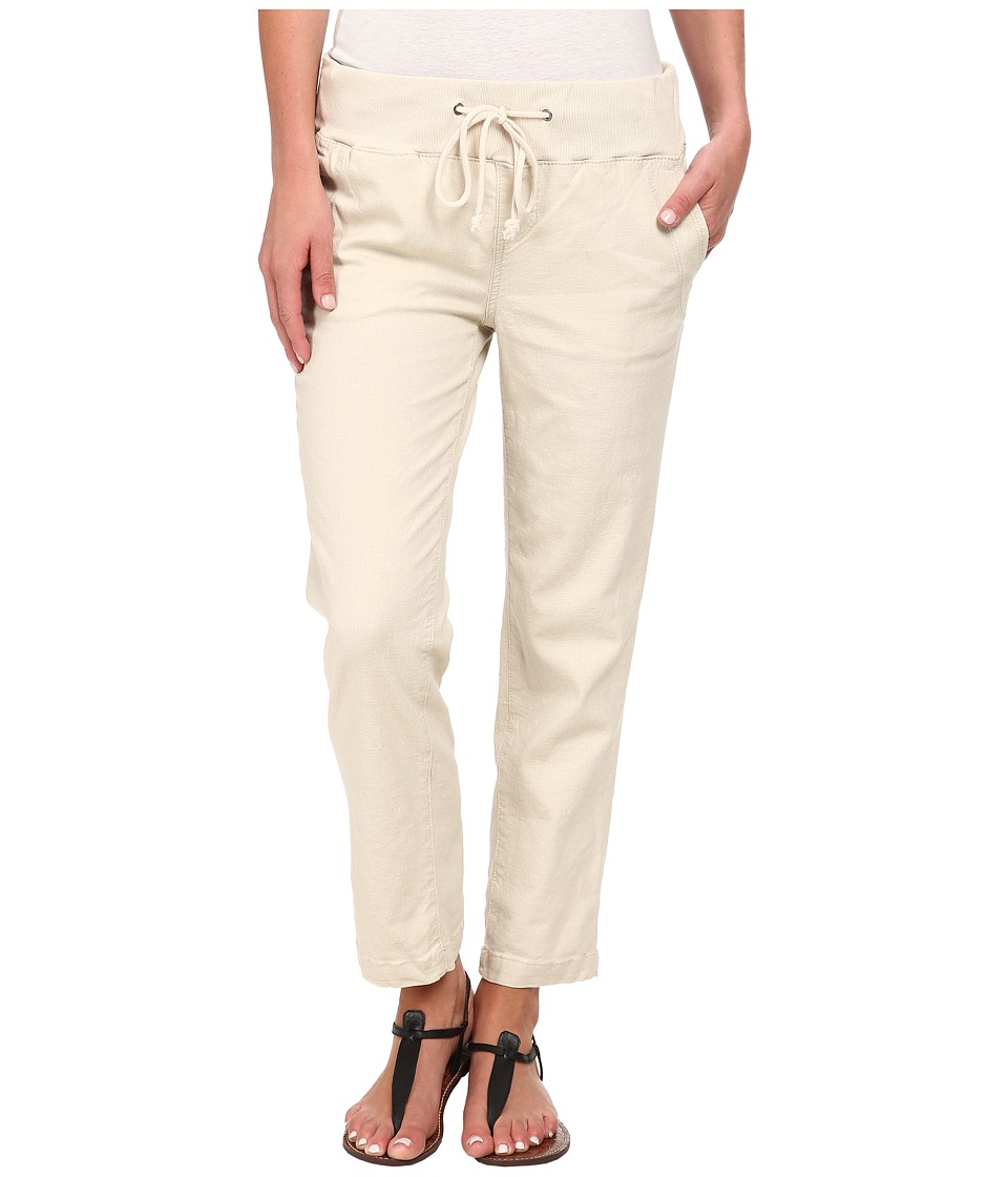 Jag Jeans - Petal Relaxed Slim Fit Capri in Gatsby Linen (Natural) Women
