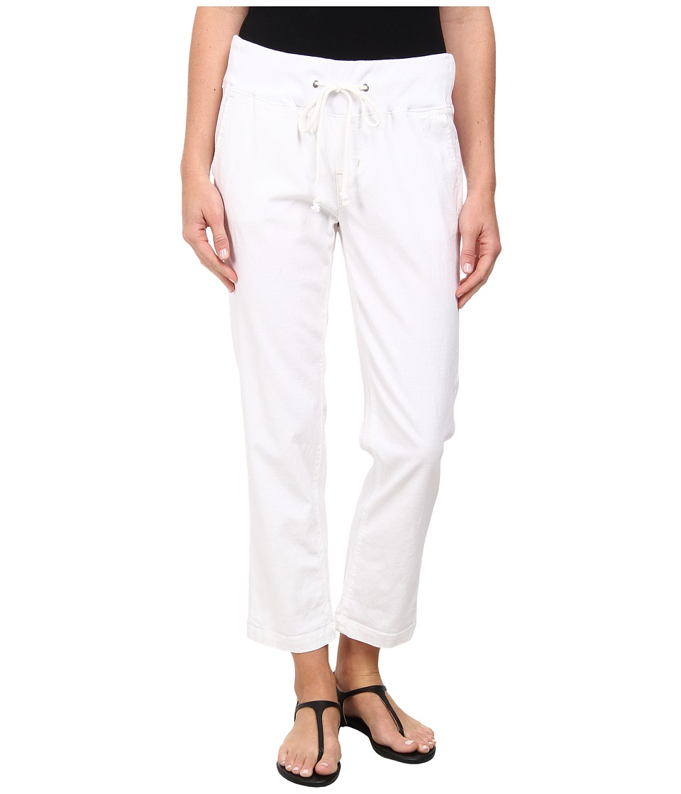 Jag Jeans - Petal Relaxed Slim Fit Capri in Gatsby Linen (White) Women