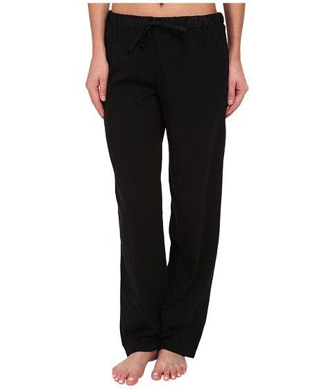 LAUREN by Ralph Lauren - Jardin Du Luxenbourg Pima Knit Long Pant (Black) Women