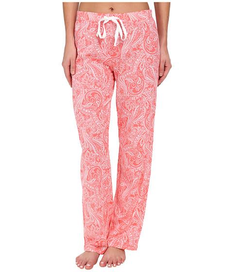 LAUREN by Ralph Lauren - Jardin Du Luxenbourg Paisley Long Pant (Fulton Paisley Luxembourg Coral/White) Women's Pajama