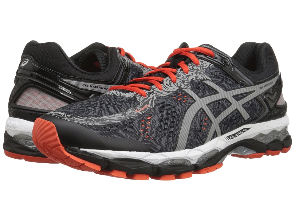 ASICS - GEL-Kayano 22 Lite-Show (Carbon/Silver/Cherry Tomato) Men's Running Shoes