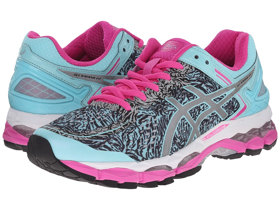 ASICS - GEL-Kayano 22 Lite-Show (Aqua Splash/Silver/Pink Glow) Women's Running Shoes