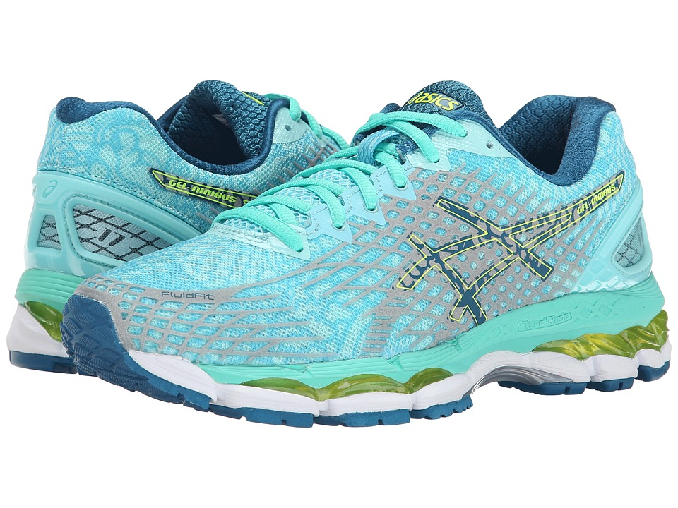 ASICS - Gel-Nimbus 17 Lite-Show (Aqua Splash/Silver/Flash Yellow) Women's Running Shoes
