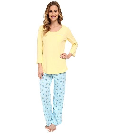 Jockey - Mystic Bay L/S Top w/ Beach Chairs Printed Pant Pajama Set (Beach Chairs) Women's Pajama Sets