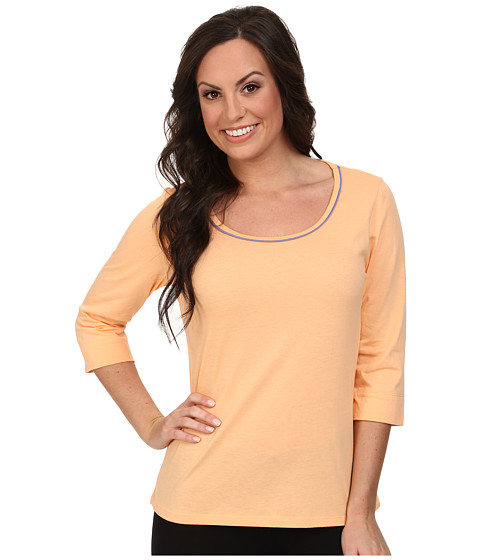 Jockey - The Savannah 3/4 Sleeve Top (Fresh Melon) Women