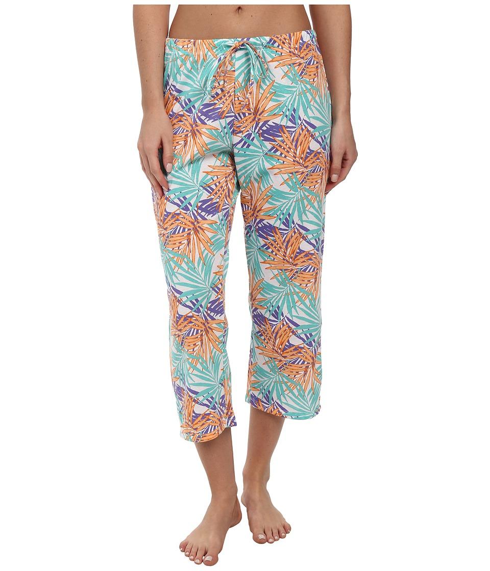 Jockey - The Savannah Palms Printed Capri Pant (Pretty Palms) Women