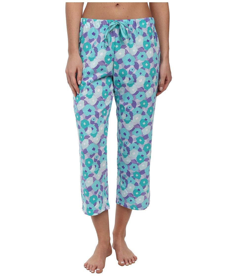 Jockey - The Savannah Abstract Floral Printed Capri Pant (Abstract Floral) Women's Pajama