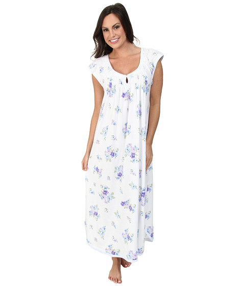 Carole Hochman - Paisley Bouquet Printed Long Gown (Paisley Bouquet) Women's Pajama