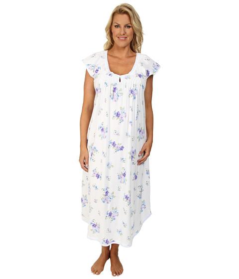 Carole Hochman - Plus Size Paisley Bouquet Printed Long Gown (Paisley Bouquet) Women's Pajama