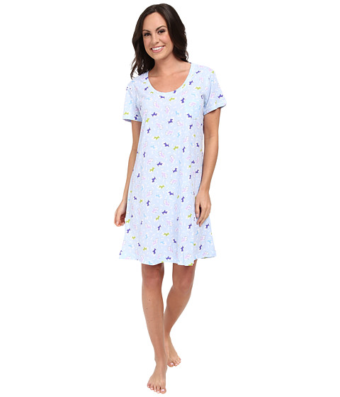 Carole Hochman - Printed Sleepshirt (Scottie Friends Blue) Women