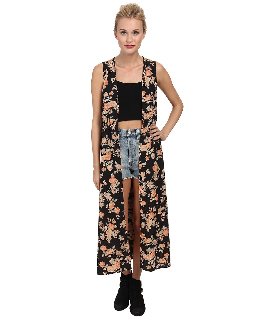 Jack by BB Dakota - Clementine Vintage Rose Printed Vest (Black) Women's Vest