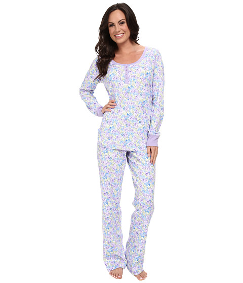 Carole Hochman - Soft Interlock Pajama (Watercolor Floral) Women