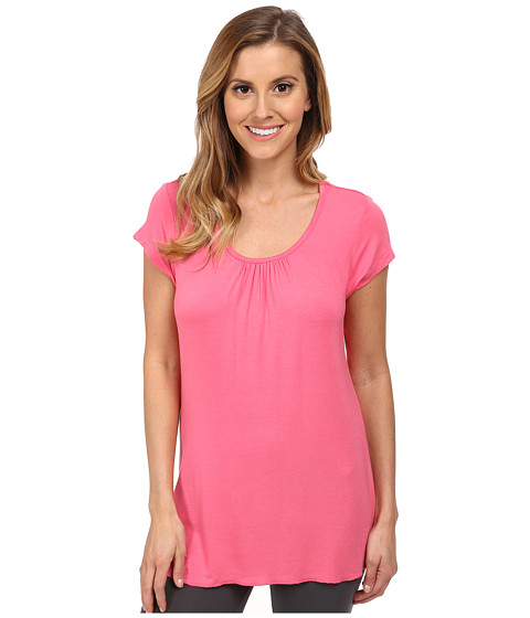 Jockey - Spring Pop S/S Shirred Top (Pinky) Women's Pajama
