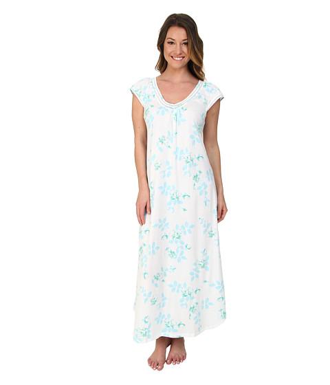 Carole Hochman - Graphite Flower Long Gown (Graphite Flower Blue Twin) Women's Pajama