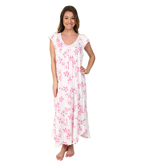 Carole Hochman - Graphite Flower Long Gown (Graphite Flower Pink Twin) Women