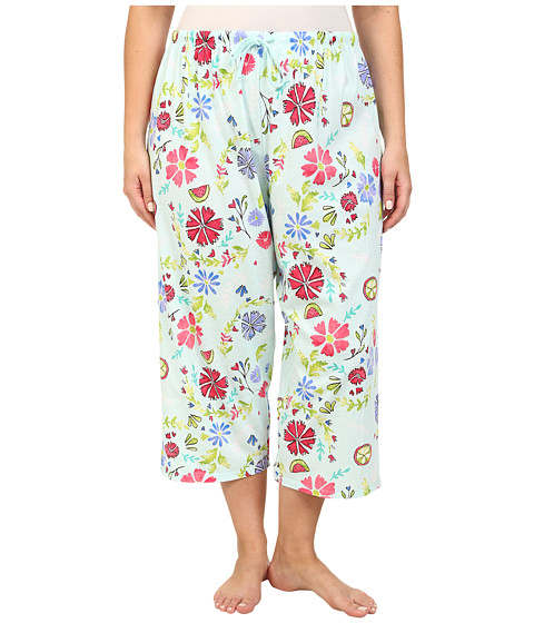 Jockey - Plus Size Spring Pop Fresh Floral Capri Pant (Fresh Floral) Women