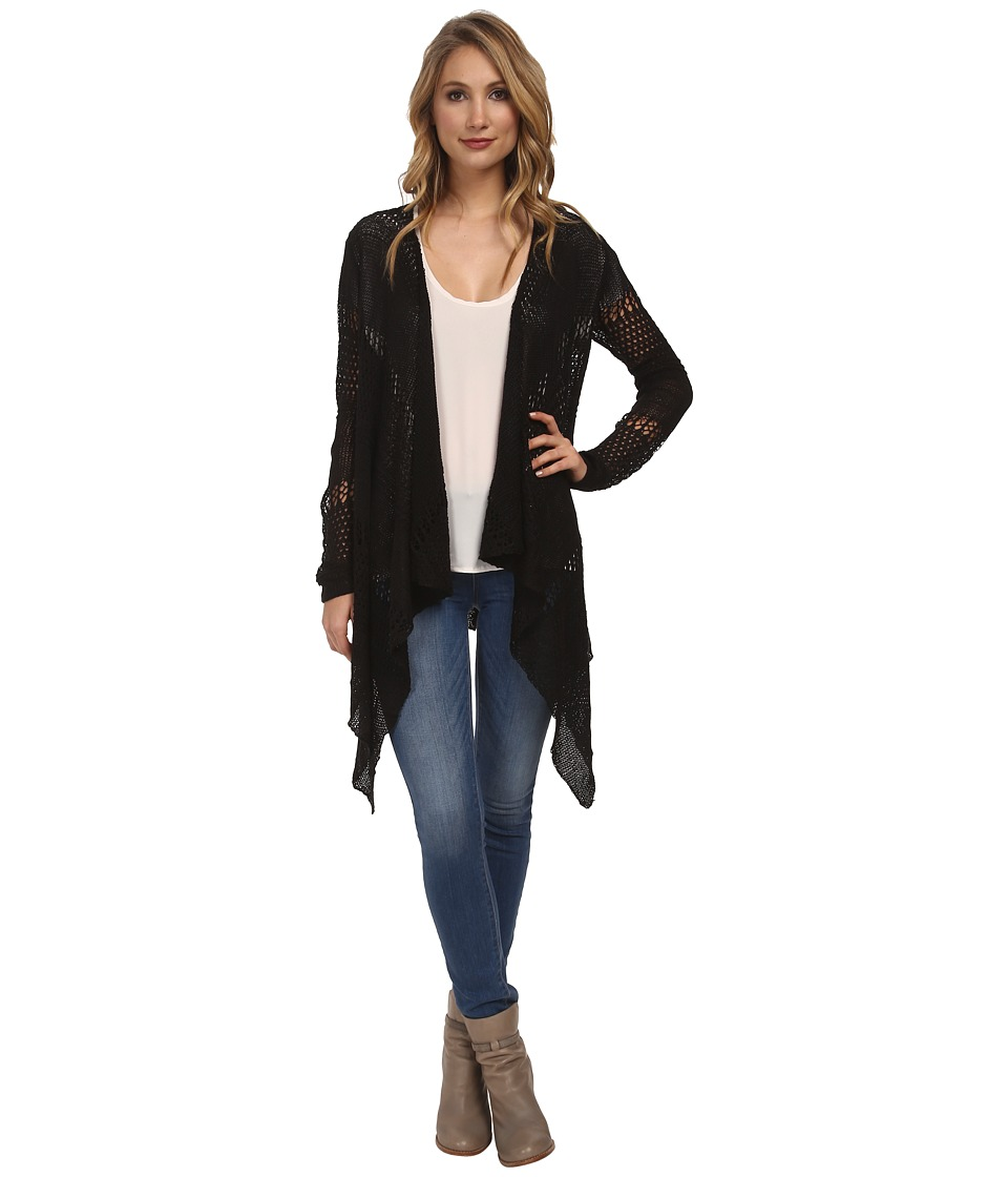 Jack by BB Dakota - Lilah Open Knit Cardigan (Black) Women's Sweater