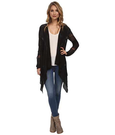 Jack by BB Dakota - Lilah Open Knit Cardigan (Black) Women