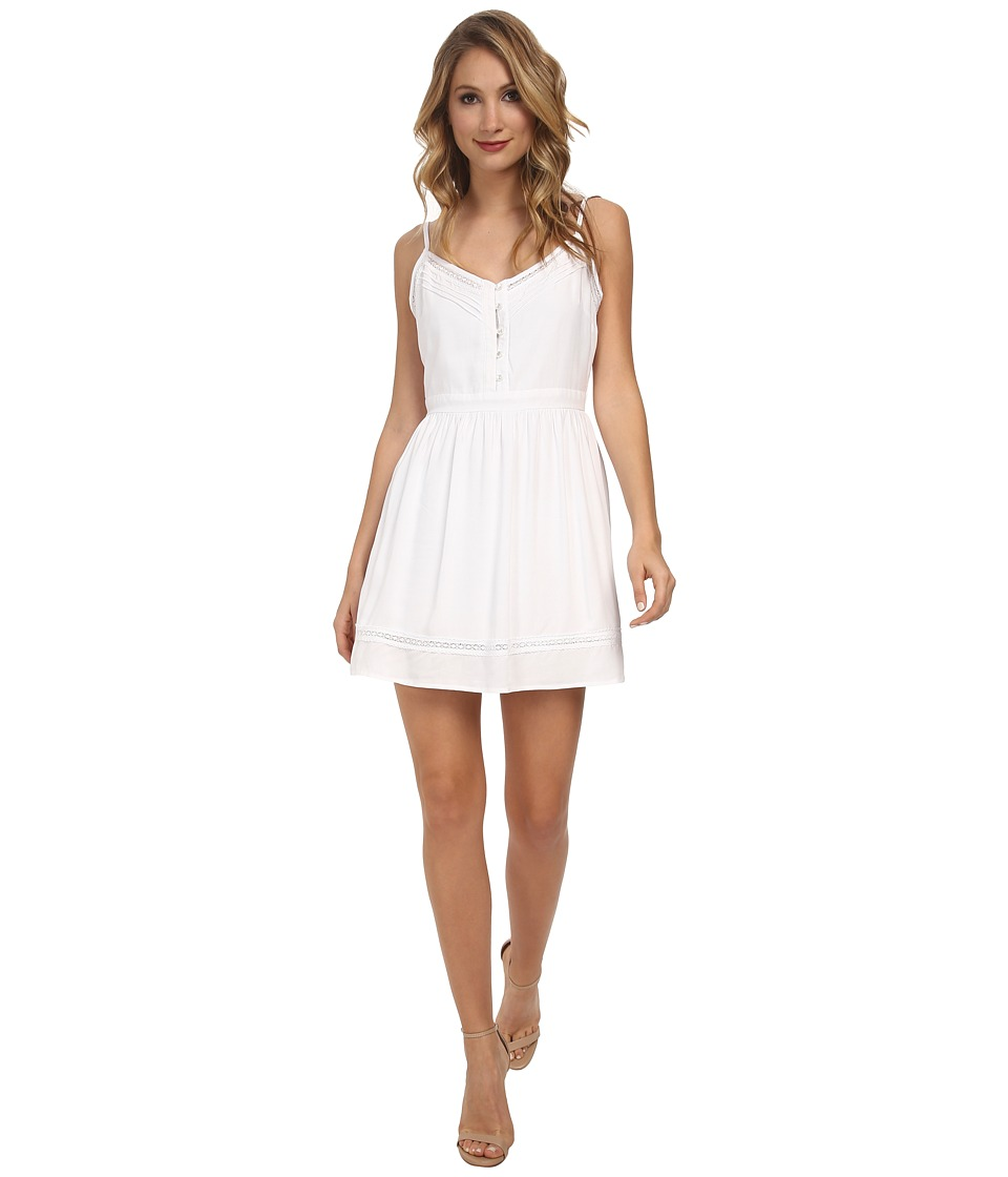 Jack by BB Dakota - Malakai Challi Dress w/ Lace (White) Women's Dress