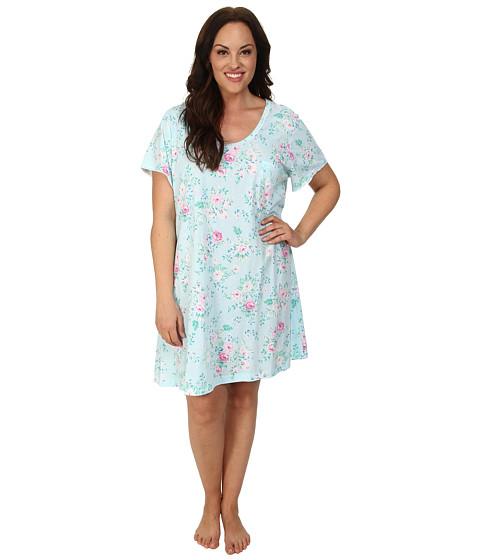 Carole Hochman - Plus Size Printed Sleepshirt (Blooming Roses) Women