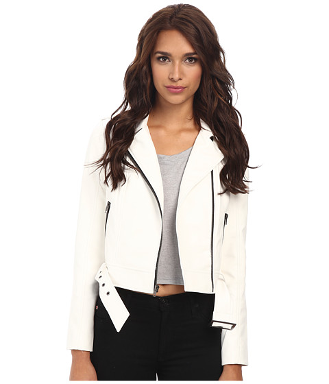 Jack by BB Dakota - Luna PU Jacket (White) Women