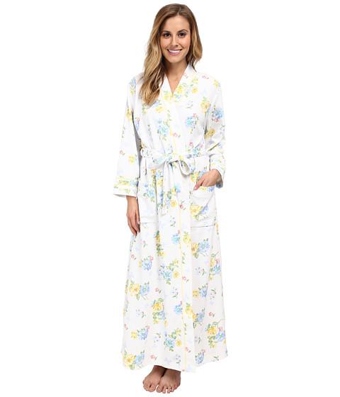 Carole Hochman - Waffle Knit Long Robe (Butterfly Garden) Women's Robe