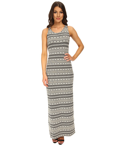 Jack by BB Dakota - Seamus Black and White Maxi Dress (Black) Women