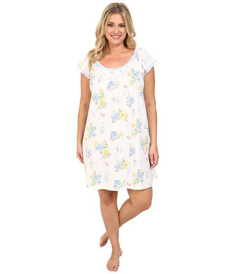 Carole Hochman - Plus Size Butterfly Garden Short Gown (Butterfly Garden) Women's Pajama