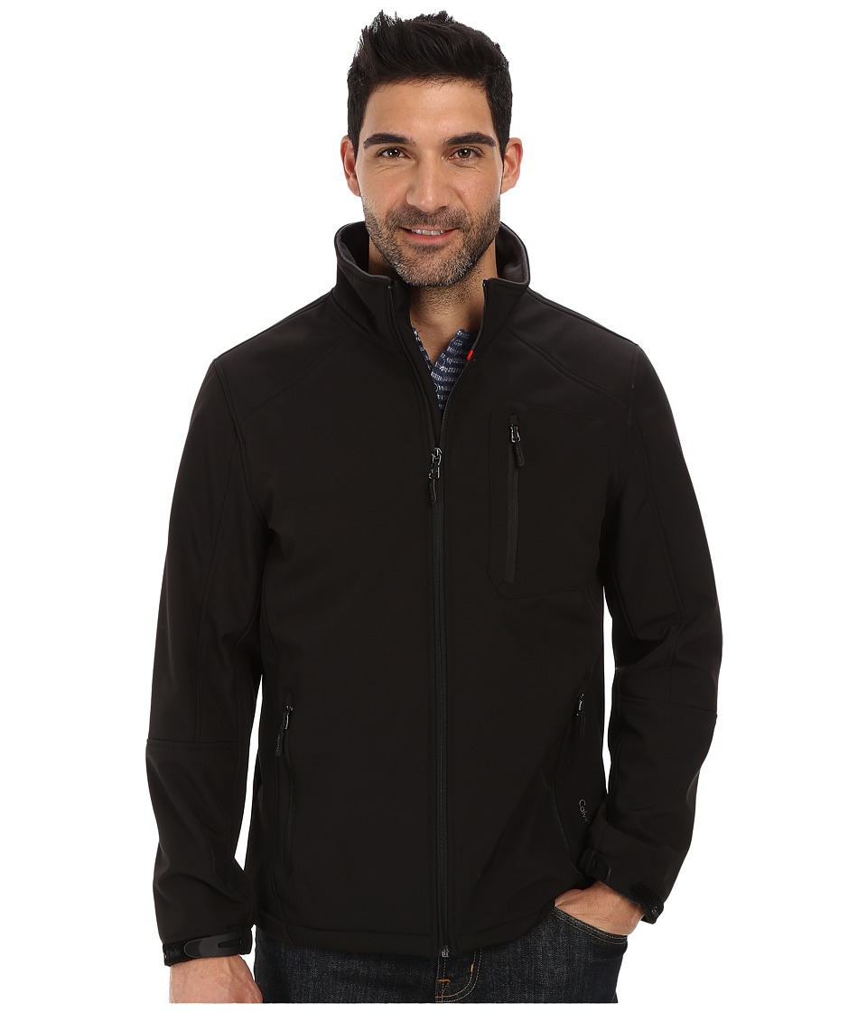 Calvin Klein - Full Zip Softshell Jacket (Black) Men's Coat