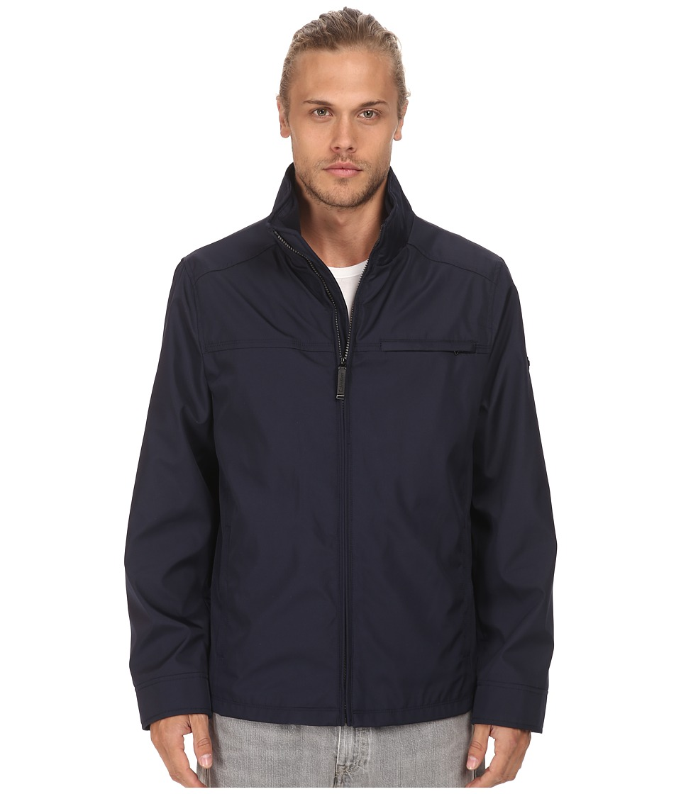 Calvin Klein - Three Seasons Water Resistant Coat (Midnight Blue) Men