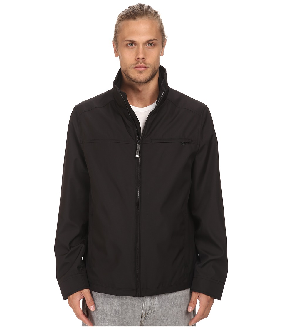 Calvin Klein - Three Seasons Water Resistant Coat (Black) Men's Coat
