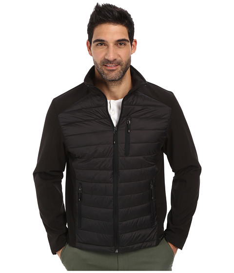 Calvin Klein - Mixed Media Jacket (Black) Men's Coat