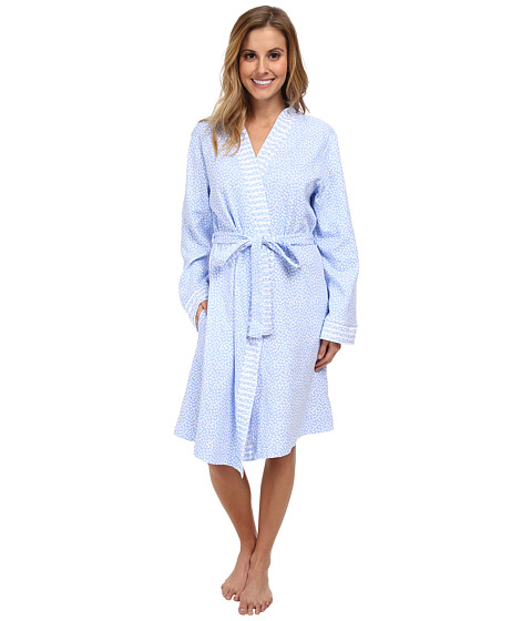 Carole Hochman - Dreamtime Ditsy Short Robe (Dreamtime Disty Blue) Women's Robe