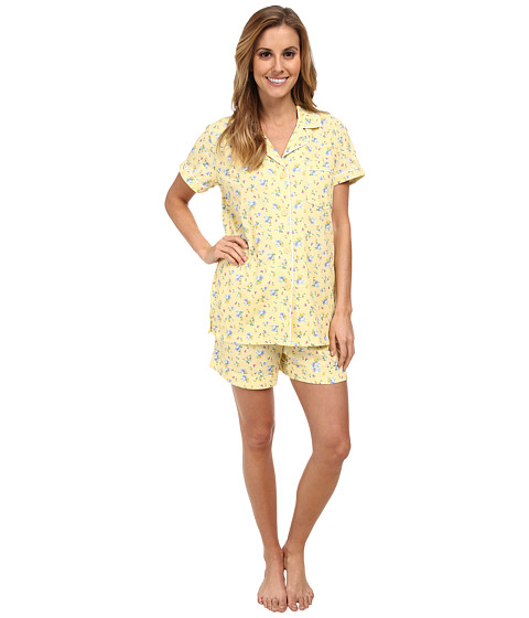 Carole Hochman - Printed Boxer Pajama Set (Sweet Arrangments) Women