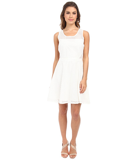 Jack by BB Dakota - Ziva Eyelet Dress (Linen) Women's Dress