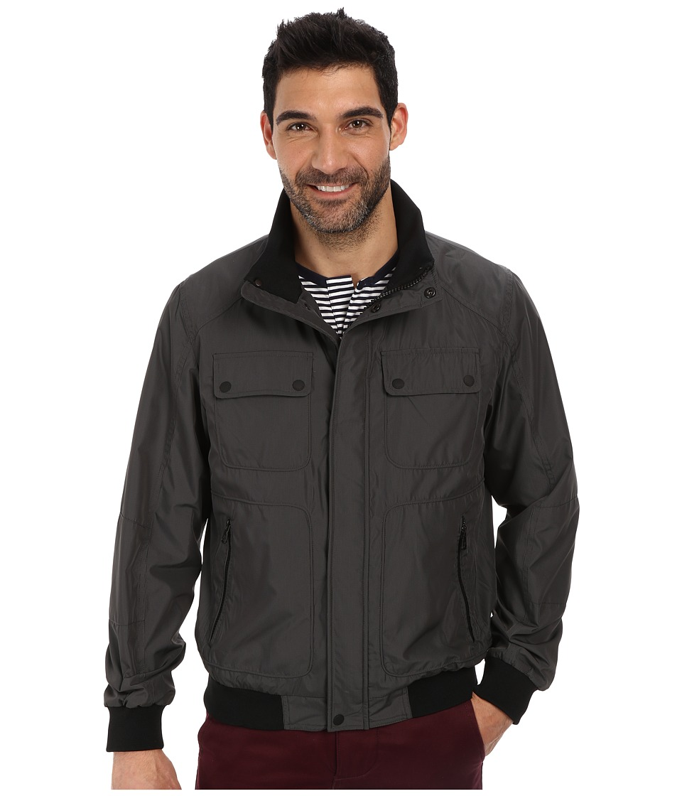Calvin Klein - Micro Check Bomber Jacket (Deep Charcoal) Men's Coat