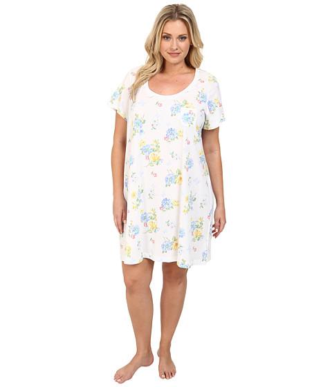 Carole Hochman - Plus Size Printed Sleepshirt (Butterfly Garden) Women's Pajama