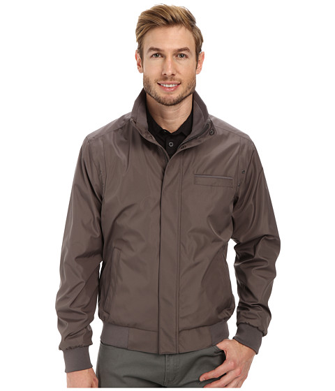 Calvin Klein - Weather Resistant Bomber Jacket (Graphite) Men's Coat