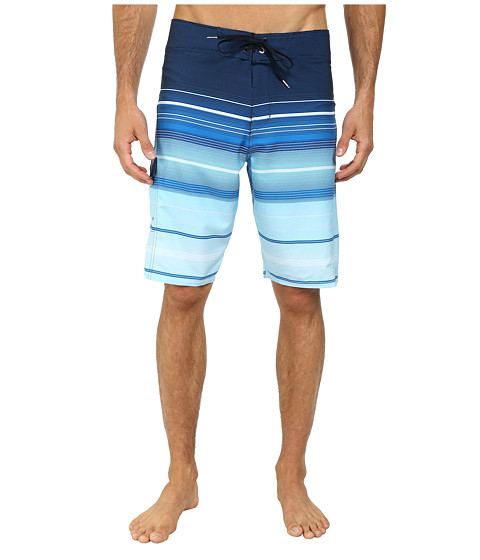 Billabong - All Day Stripe 21 Boardshort (Bright Blue) Men's Swimwear