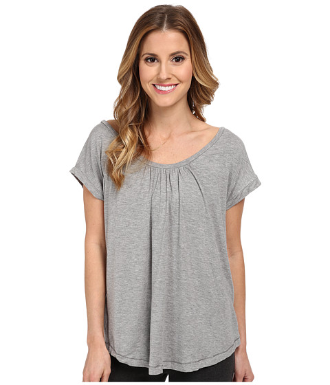 Midnight by Carole Hochman - Lounge Capsule Lounge Crop Tee (Heather Grey) Women's Pajama