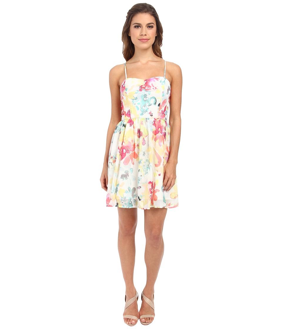 Jack by BB Dakota - Cilian Watercolor Dress (Ivory) Women's Dress