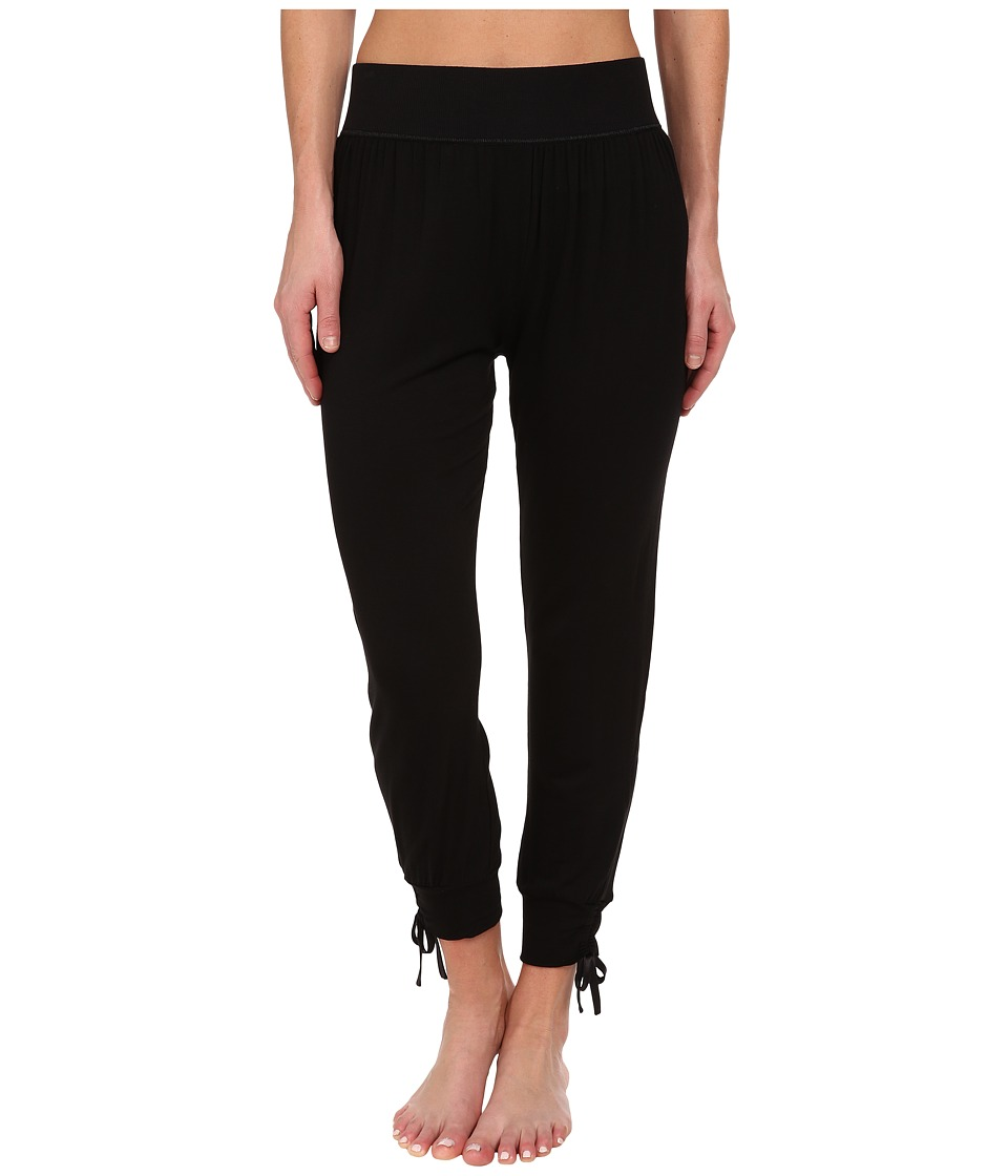 Midnight by Carole Hochman - Lounge Capsule Lounge Capri Pant (Black) Women's Pajama