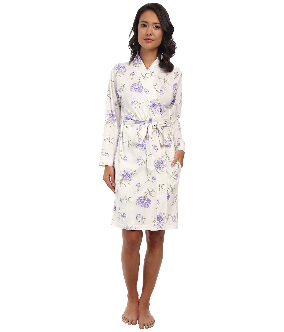 LAUREN by Ralph Lauren - Victorian Lawn Short Kimono Robe (Ellie Floral) Women's Robe