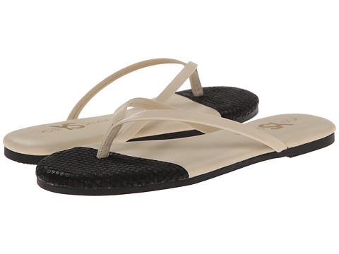 Yosi Samra - Roee Cap 3D Snake Leather Flip Flop (Biscotti/Black) Women's Sandals