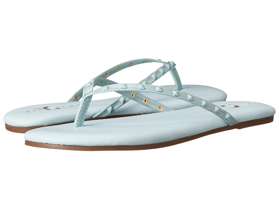 Yosi Samra - Roee Tonal Stud Soft Leather Flip Flop (Skylight Blue) Women's Sandals