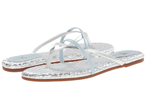 Yosi Samra - River Burnished Woven Flip Flop (Silver) Women