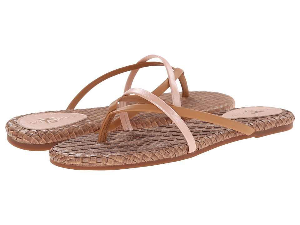 Yosi Samra - River Burnished Woven Flip Flop (Sienna) Women's Sandals