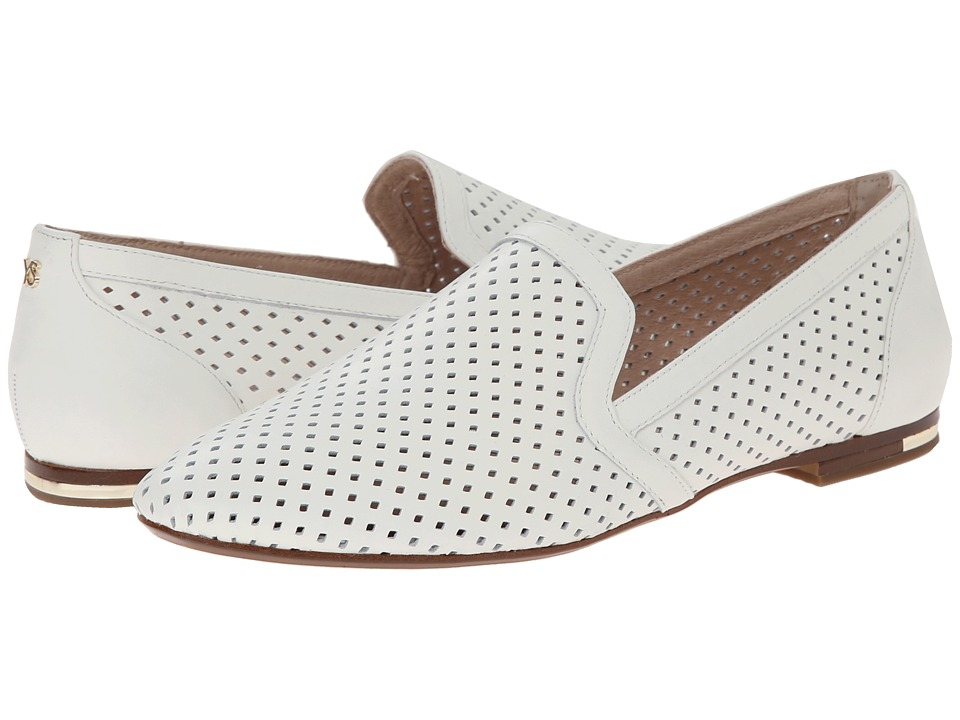 Yosi Samra - Preslie Perforated Leather Slipper (White) Women