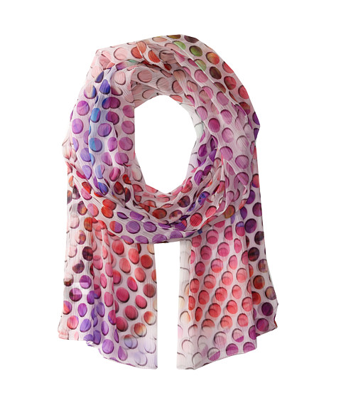 Echo Design - Dotted Floral Scarf (Fuchsia) Scarves