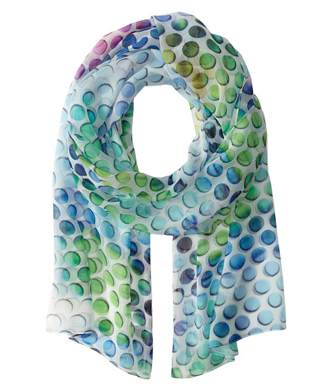 Echo Design - Dotted Floral Scarf (Turquoise) Scarves